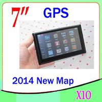 DHL 10PCS 7inch GPS Navigator 4 Go Avec MP4 FM MP3 multilingue carte multi-pays ZY-DH-03