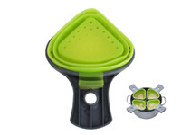 Wholesale Silicone Strainer Drain Noodles Pasta Scoop Vegies Colander Triangle Basket with Handle for Kitchen