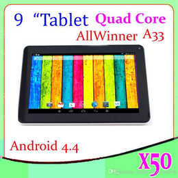 DHL 50PCS A33 Quad core tablet 800*480 9 inch Capacitive Touch Screen Android 4.4 Tablet PC ZY-MID-28