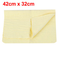Wholesale Car Home Furniture Glass Water Absorb Yellow Cleaning Cham Towel cm x cm