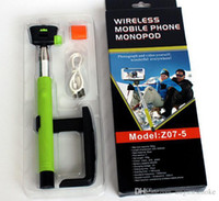 Wholesale Wireless Bluetooth Monopod Selfie Stick Tripod Handheld Monopod Z07 in For Mobile Phone Iphone IOS Android Smart Phone