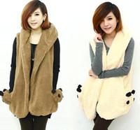 Cheap Winter Sleeveless Casual Cotton Cute Women Coats Hot New Autumn All-match Sweet Pockets