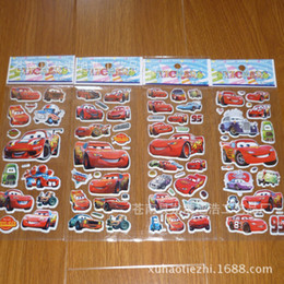 Wholesale Cars D PVC Anime Cartoon Stickers Kids Toys Cartoon Craft Scrapbook Children Classic Toys baby Stickers