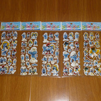 Wholesale 3D PVC Anime Cartoon Stickers Kids Toys Cartoon Craft Scrapbook Children Classic Toys baby Stickers