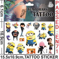 Wholesale Despicable me Anime Cartoon Tattoo Stickers Body Stickers For Women Men Baby Children Boy Girls Children s Gift