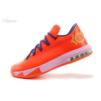 Cheap 2014 Free shipping mens sports footwear KD 6 mens basketball shoes kiss me strong traction responsive cushioning lockdown support dynamic fl