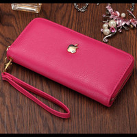 Wholesale Japanese and Korean version of the classic fashion candy color lady long wallet phone package authentic women zipper trend shipping