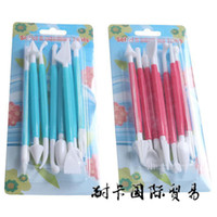 Wholesale Cake carvel Decorating Flower Fondant Modelling Craft Clays Sugarcraft Tool Cutter set of