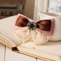 Wholesale Cheap Fashion Lace Bow Spring Upscale Boutiques Hair Accessories Hairpin Wander New Products Barrettes Hair Clips B36235