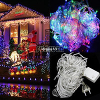 Wholesale 20M Multi color LED String Lights Decorative Christmas Party Festival Twinkle String Lamp Bulb V EU