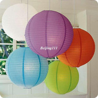 Wholesale cm quot Chinese round paper Lantern wedding Lantern Party Supplies festival decoration Prom Wedding Decor