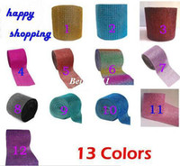 Wholesale New color Row10yard Bling Diamond mesh Wrap ribbon Rhinestone Mesh Crystal Ribbon for weddings decoration