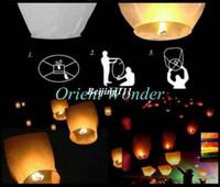 Cheap Freeshipping 20pcs lot SKY Kongming Balloons wishing Lanterns,Flying Light Halloween Lights,Chinese sky Lantern
