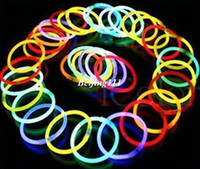 Cheap Disposable neon stick neon bracelet tape adapter diy luminous stick small toys party decoration items 100 pieces lot