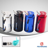 Wholesale PQY STORE Universal mm D1 Engine Round Oil Catch Tank Can JDM BLACK SILVER RED BLUE PQY TK82