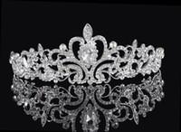 Cheap Hot Sale Cheap In Stock Shining Wedding Bridal Crystal Veil Tiara Crown Headband Wedding Bridal Tiaras & Hair Accessories