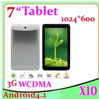 Wholesale DHL inch Capacitive touch screen MTK Dual core Dual Sim android Bluetooth GPS built in G WCDMA tablet pc ZY MID