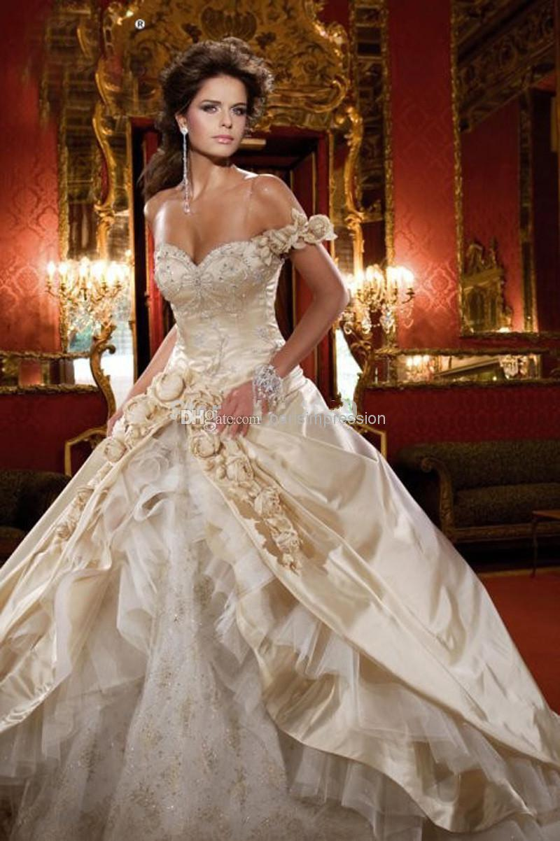 Vintage 2015 Luxury Ball Gown Wedding Dresses Off The Shoulder ...