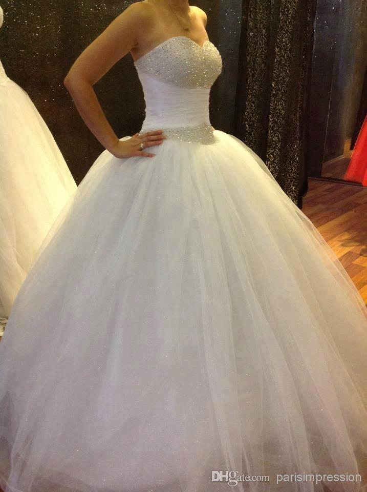 Bling bling 2014 plus size wedding dresses beads crystal for Plus size bling wedding dresses