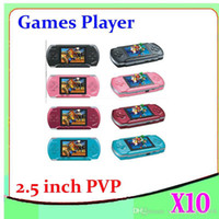 portable games video - DHL Inch bit Handheld game player New PVP2 Portable Video Game Console TFT LCD free game card ZY PVP2