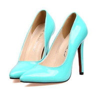 Cheap Fashion Chap Pointy shoes shallow mouth with super high heels woman shoes Cheap In Stock size 34-40 11.5cm 317-2