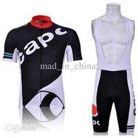Wholesale 2014 CAPO Short Sleeve Cycling Jersey Cycling Bib Shorts Gel Cushion High Quality Cycling Clothing Size S XXXL