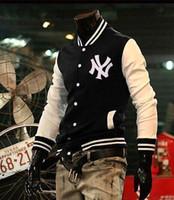 Wholesale New Outdoor Men s Coat Tracksuit England Style Black Or Red Long Sleeve New York Baseball Men Varsity Jackets