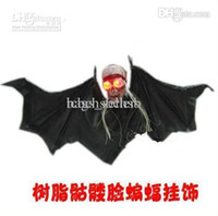 Wholesale Halloween Hanging Ornament Resin Bat Skull Party Property Hot Sales A9