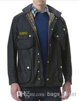 designer jackets for men - Designer Waxed Jacket For Men Black High Quality EMS