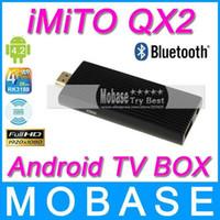 Wholesale Coolmax New iMiTO QX2 Android TV BOX Quad Core Mini PC RK3188 G G Bluetooth WiFi P HDMI XBMC Media Player Smart TV Reciver