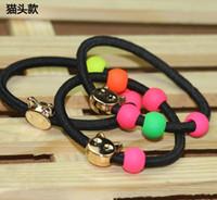 hair rubber band - Discount Beads Drip Cute Hair Accessories Tousheng Imitation Metal Hair Band Rubber Band Hair Ring Hair Rubber Bands