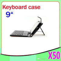 Wholesale DHL Universal Inch Tablet PC Keyboard Case USB Folding Folio Case for inch tablet pcZY L11