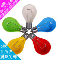 Wholesale Fashion candy color bulb style ashtray personalized melamine ashtray houselinen ash with lid