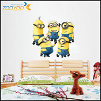 Wholesale 60pcs New Design Despicable Me Minion Movie Decal Removable Wall Sticker Home Decor Art Kids Nursery Loving Gift Halloween gift