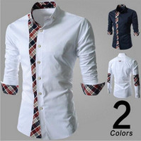 Wholesale New Design Fashion Mens Plaid Long Sleeve Shirt Korean Style Slim Fit Men Cotton Shirt M L XL XXL