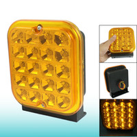 Cheap Car Truck Squared Yellow 20 LED Daytime Running Fog Light Lamp DC 24V