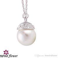 Wholesale Popular Elegant Lady Charm Necklace Earrings Fashion European Village Romantic Wedding Gift Jewelry set Big Pearl Alloy chain Jewelry set