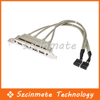 Wholesale Ports USB Female Screw To PCI Motherboard Pin Header Cable cm