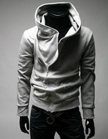 brand men hoodies jackets - HOT Brand New Diagonal zipper Men s Hoodies Sweatshirts Jacket Coat Size M L XL XXL XXXL