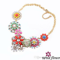 Wholesale Fashion Decoration Acrylic Flower Pendent Necklace Popular Broken Love Gift Jewelry Wonderful Best Sale Modern Lady Charm Necklace