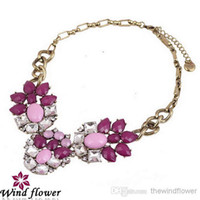 custom acrylic - The Best Alloy Qulity Necklace Twinkle Romantic Jewelry Custom Wood Necklace Acrylic Gem Bib Hot Sale In Matket Popular Wesetern Vitage