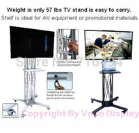 Wholesale portable Tv Stand folding caster truss TV Stand with Wheels exhibition product trade show quot to LCD television stand