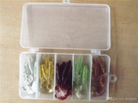 Wholesale New Arrival Pesca Simulation Worms Fishing Lures Bionic Single Tail Soft Baits Fishy Smell with Plastic Fishing Tackle Box H10884