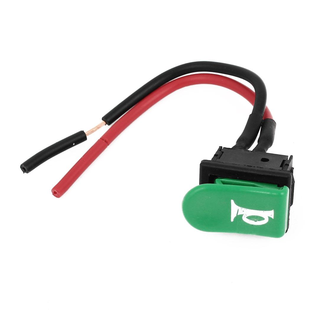 Discount spst green horn button momentary wired switch 12v for motorcycle from china dhgate com