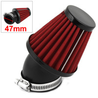 Wholesale Red Body mm Clamp Rubber Flange Air Intake Filter for Motorbike