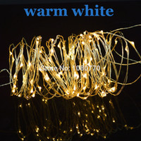 christmas lights color led - Battery Box Operated Copper Wire Stip Light LED Tiny Christmas Decoarting Lighting Warm White Color M ft long piece