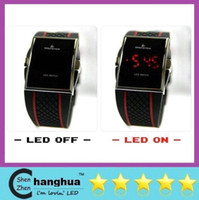 Wholesale LOW Drop Shipping Best Gift Men s Luxury Date Digital Sport Led Watch With Red Light MP5