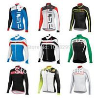 Wholesale castelli men s cycling jersey jacket in winter autumn with long sleeve cycling bike top of breathable anti UV bicycle wear clothing