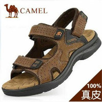 Wholesale new sandals genuine leather cutout waterproof slippers shoes are man