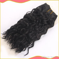 Wholesale Clip In Hair Extensions Brazilian Virgin Hair Brazilian Curly Hair Extensions gram color factory on sale